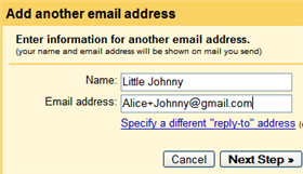 Give your kids personalized Gmail addresses