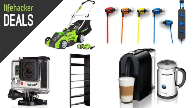 Genius Bookshelves, GoPro Hero3+, Nespresso Espressos, Tire Discounts