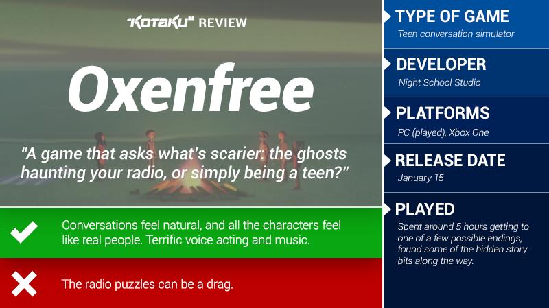 Oxenfree: The Kotaku Review