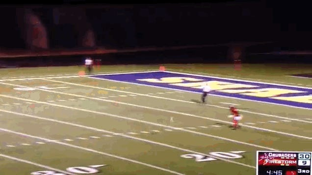 College Scores 109-Yard Punt Return TD In First Ever Football Game
