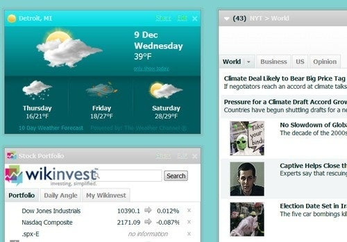 Netvibes Wasabi is a Lightning Fast Feed Reader and Start Page