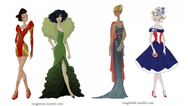 Avengers-inspired gowns are red carpet-ready