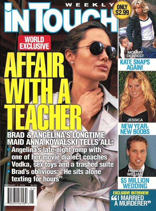 This Week In Tabloids: Angie's Sexcapades On Rubber Sheets; Octomom's Stretchmark-Free Bikini Body