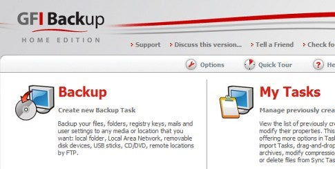 GFI Backup is an Easy to Use, Free Backup Solution