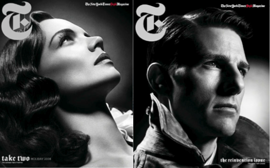 Tom Cruise and Katie Holmes Done Up In Noir
