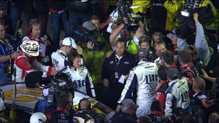 A new angle of the latest NASCAR slap fight