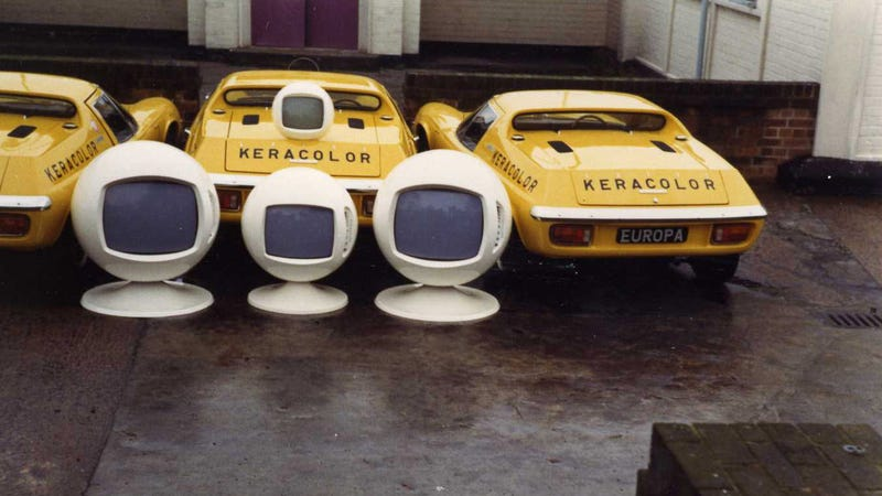 Space Age TVs Go Well With Lotuses