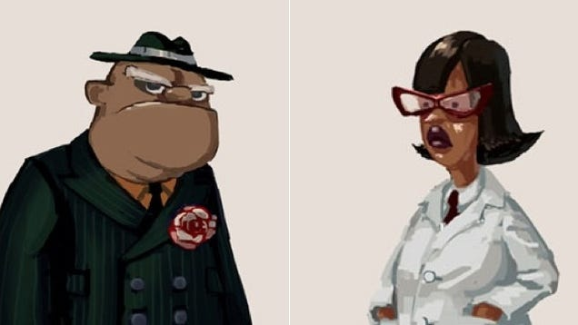 Concept Art Surfaces for Ron Gilbert's New Double Fine Game