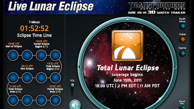 How to Watch Today's Lunar Eclipse from Your Computer