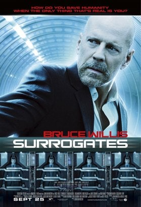Bald Albino Is Humankind's Last Hope In New Surrogates Poster