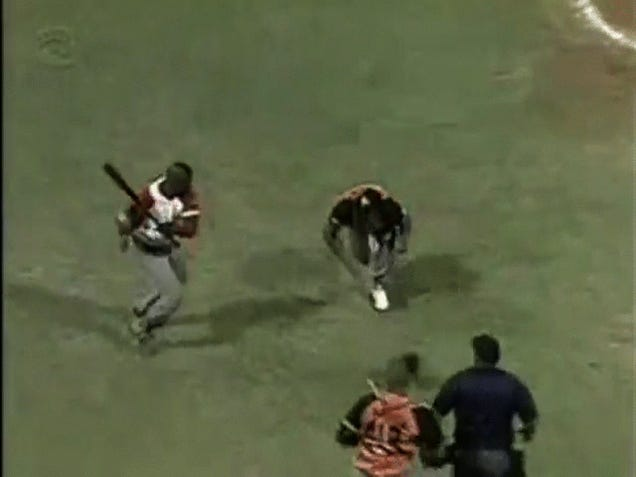 Watch This Baseball Player Try To Murder A Pitcher During A Brawl
