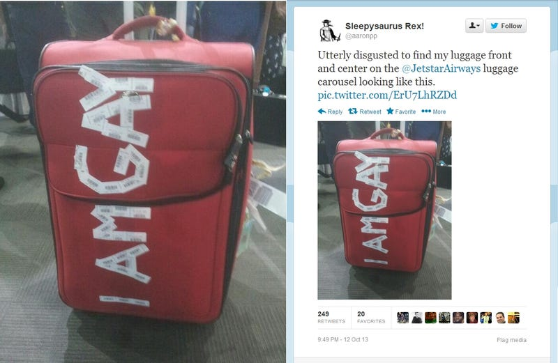 Straight Dad Has World Rocked After Finding 'I Am Gay' on His Luggage