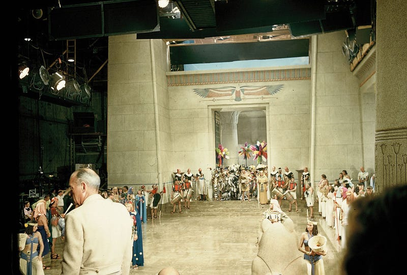 Amazing, never-seen images from the making of The Ten Commandments