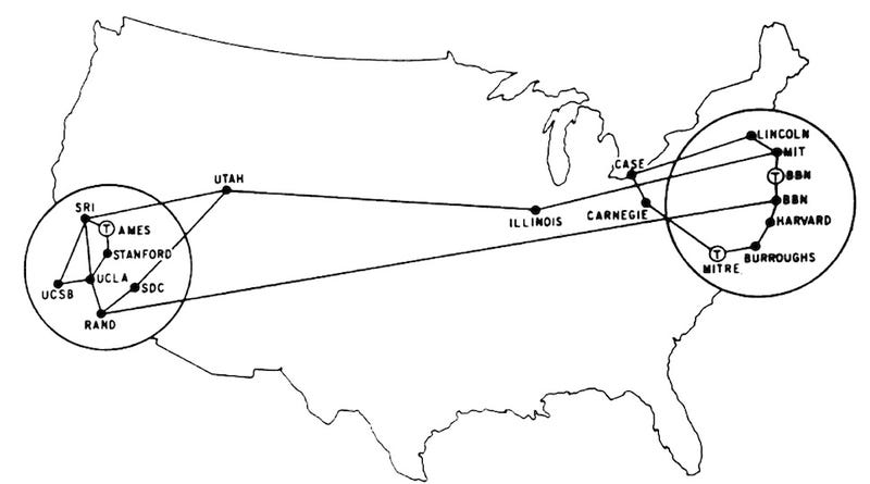 A Map of the First Internet