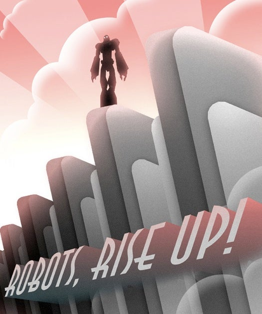 Retro Propaganda Posters from the Robot Uprising