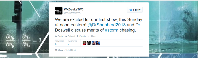 The Weather Channel Is Debuting a New Talk Show Called WXGeeks