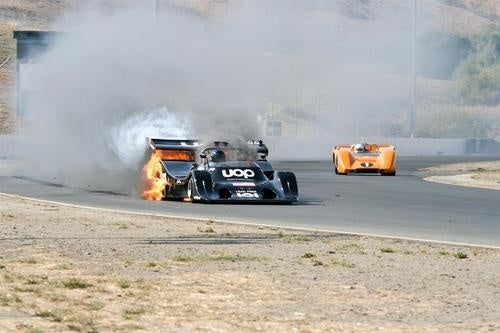Can Am Racer Gets A Little Too Hot