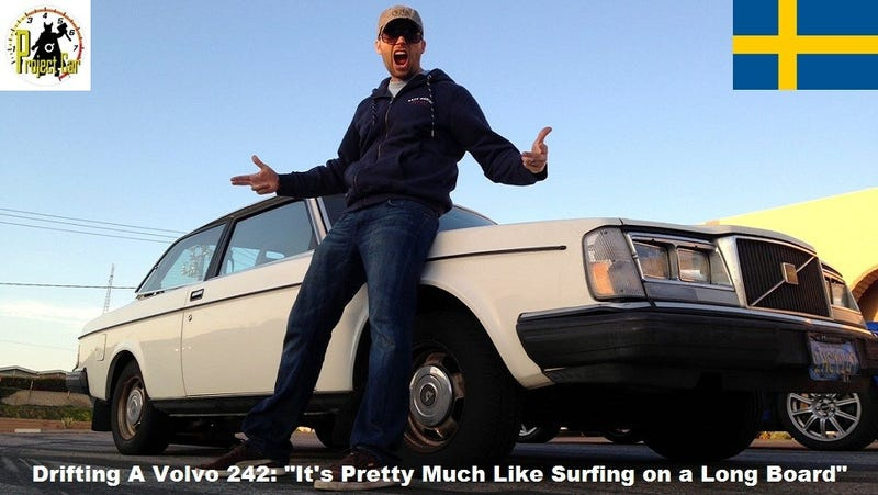 Professional Drifter Carl Rydquist Gives Us Drifting Lessons In A Stock Volvo 242