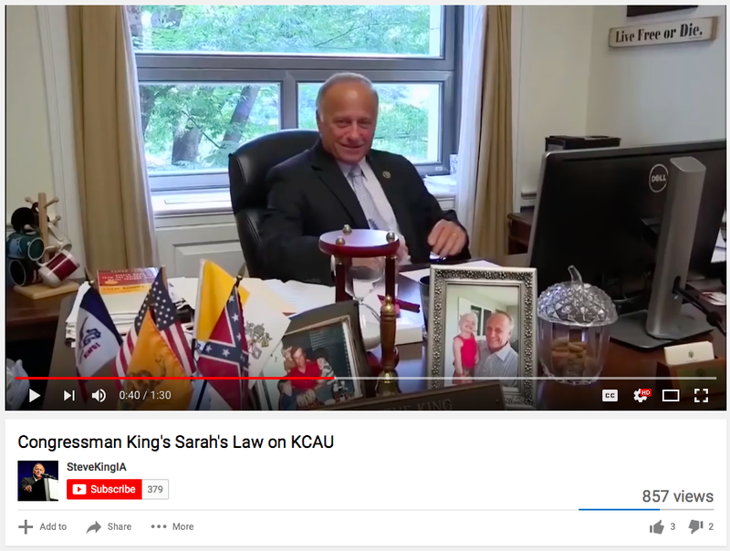 Why Does Birther Congressman Steve King Have a Confederate Flag on His Desk?
