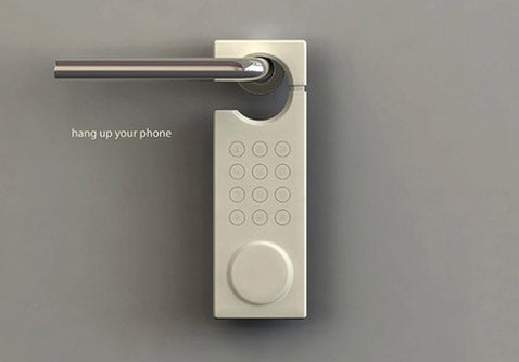 Hang Up Your Phone Concept