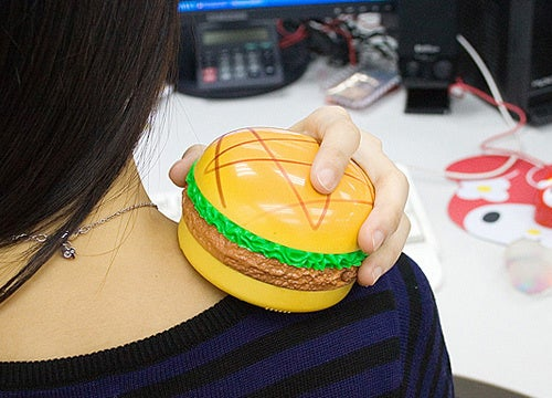 USB Heated Burger Massager Cures Its Own Induced Stomach Ache