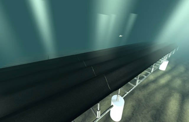 """Tapping Into Wave Power With a Gigantic, Artificial """"Seafloor Carpet"""""""