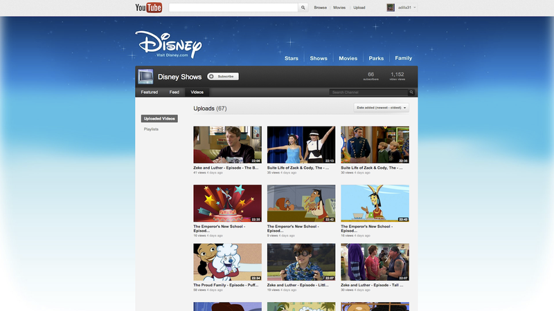 Disney Brings 70 TV Episodes to YouTube