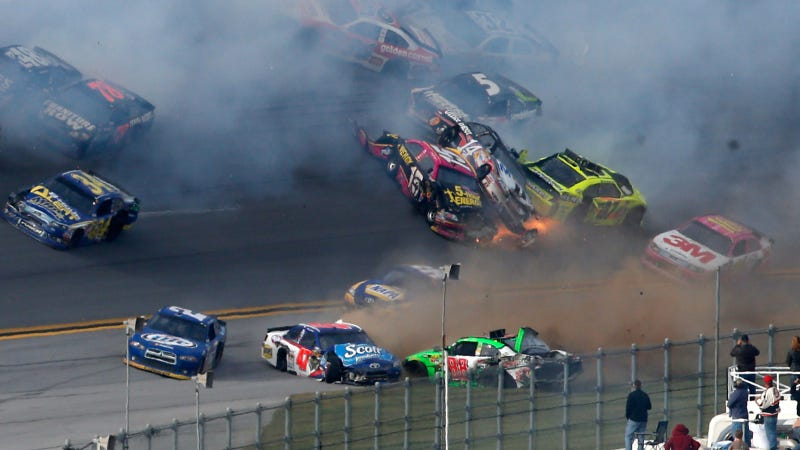 This Is What A 25-Car NASCAR Crash Looks Like