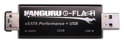 Kanguru's e-Flash Drive Can Handle USB and eSATA