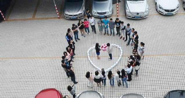 Wedding Proposal with 99 iPhones Turned into One Pricey Rejection
