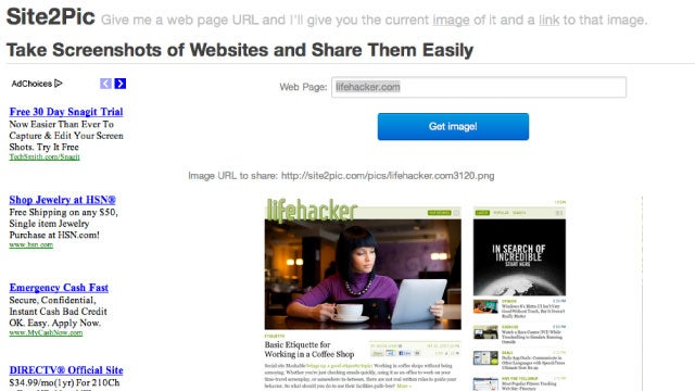 Site2Pic Instantly Generates a Screenshot of a Web Page for Easy Sharing