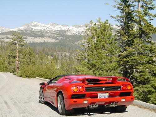 Doing Yosemite In A Lamborghini Diablo