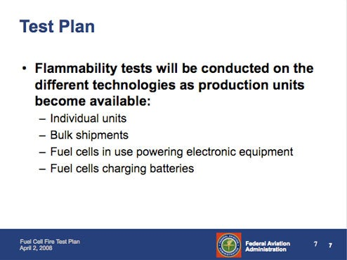 DOT Says Fuel Cells Can Fly; FAA Still Afraid They Might Fry