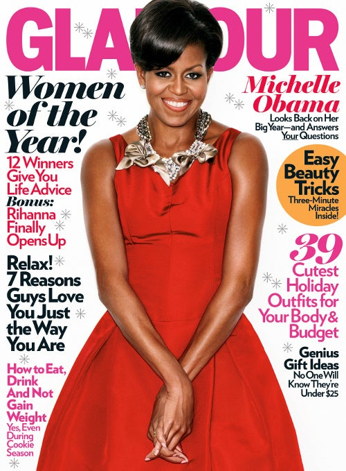 Season's Greetings: Michelle Obama Gets December Glamour Cover