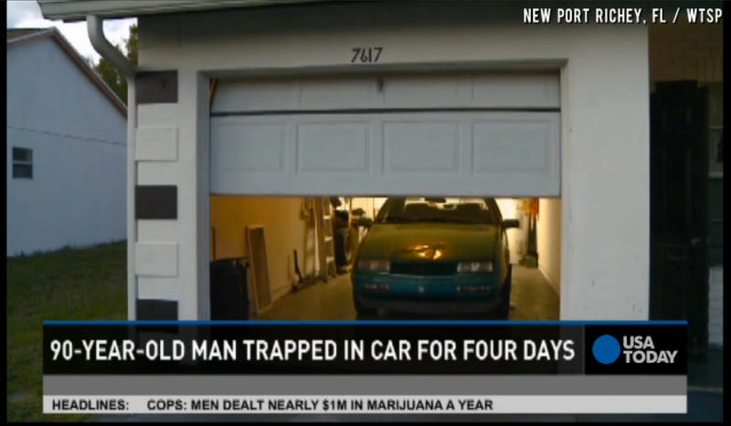 90-Year Old Man Survives Four Days Stuck In His Car On Ice Cream