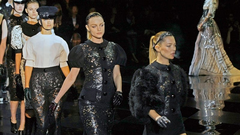 Total Badass Kate Moss Lights Up on the Runway