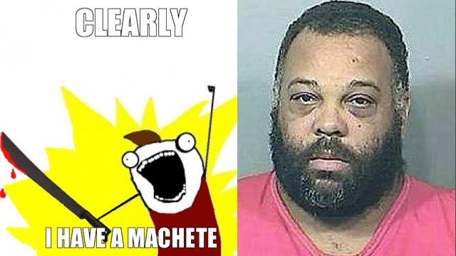This Floridian Attacked A Car With A Machete