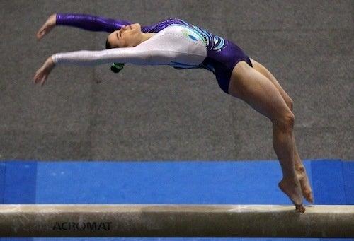 Australian Gymnast Shows Off Balancing Act