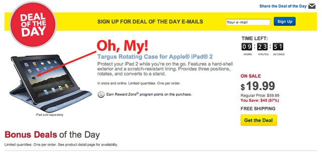 Best Buy's Deal of the Day Ad Uses (GASP!) a Jailbroken iPad (Updated)