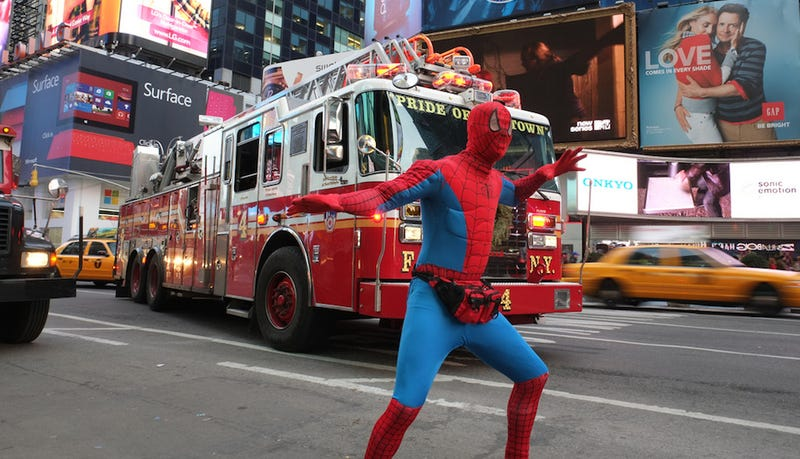 Times Square Spider-Men Smell Awful, New York Post Reports