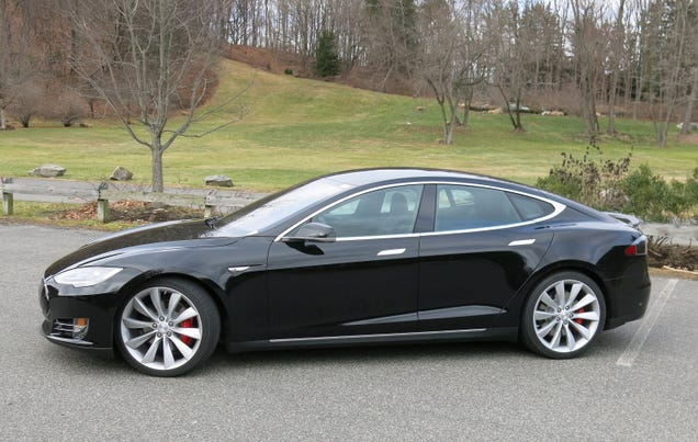 We drove the new Tesla P85D and, holy hell, it's like a rocket!