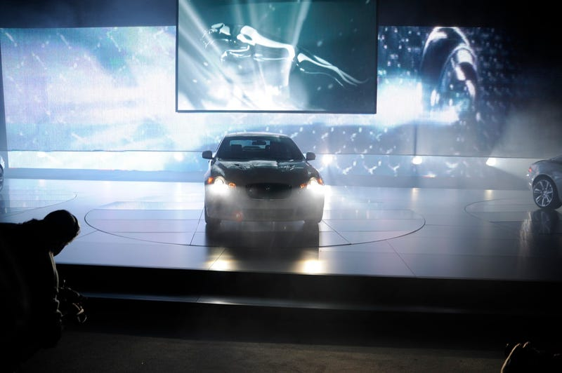 2010 Jaguar XFR Launched Amid Dry Ice, Lasers