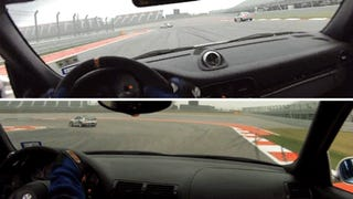 Two Terrifying Views Of The Same Porsche Nearly Crashing At COTA