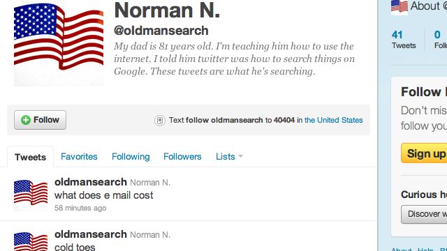 What Happens When a Grandpa Thinks Twitter Is Google