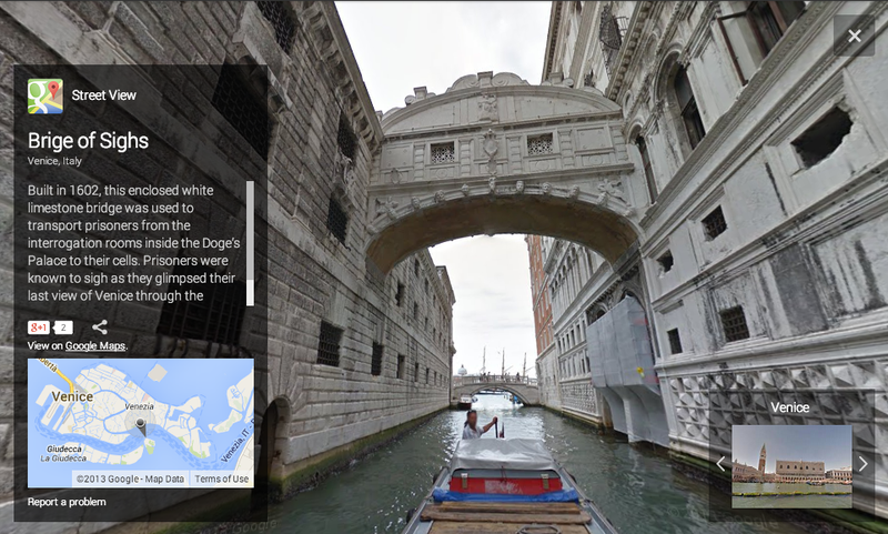 Tour the Canals of Venice with Google Street View