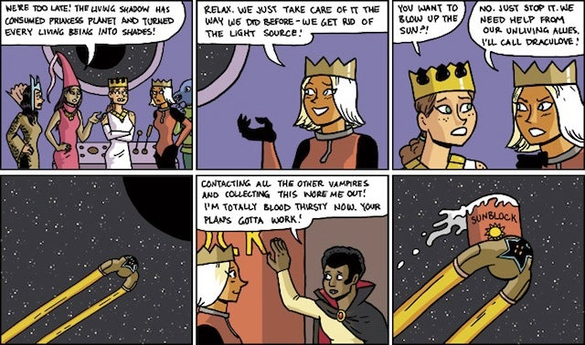 Saturday Webcomic: The Princess Planet is a land of myth, magic, and cornball puns