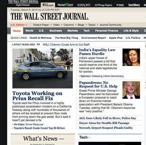 WSJ, Toyota PR Don't Know Prius Already Recalled