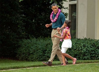 In The Tank: Sasha Obama Takes Rahm Emanuel For A Wet 'N Wild Hawaiian Ride