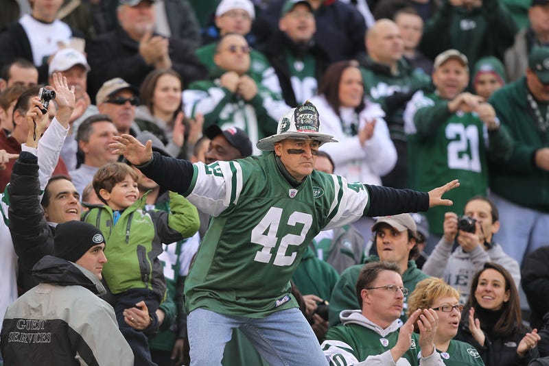 Is This Fireman Ed, Sans Fireman Gear, At The Jets Game?