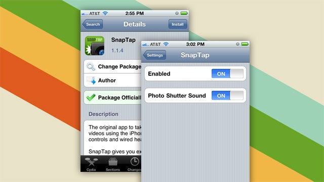 SnapTap Lets You Use Your Jailbroken iPhone's Volume Buttons to Take Photos